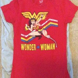 Red Vintage Super Woman T-shirt, size S